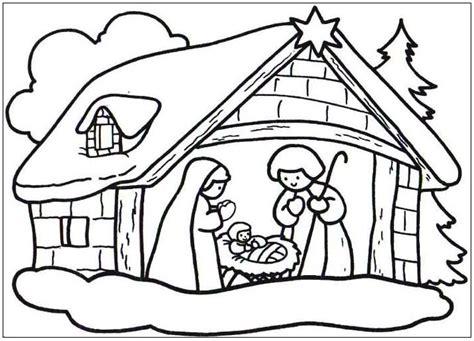 imagenes de navidad belen portal de belen nevado dibujalia dibujos para colorear