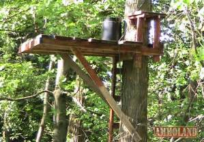 tree blind plans how to build a simple permanent treestand for