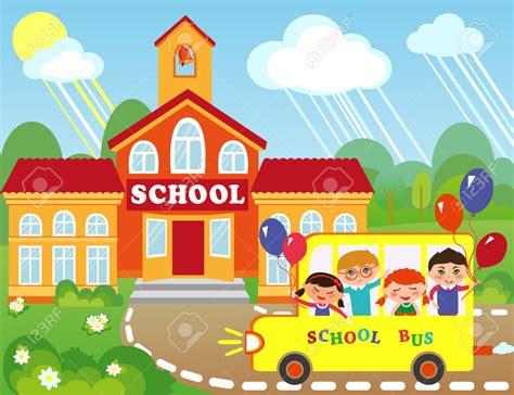 imagenes animadas de una escuela 46372908 ilustraci n del edificio de la escuela de dibujos