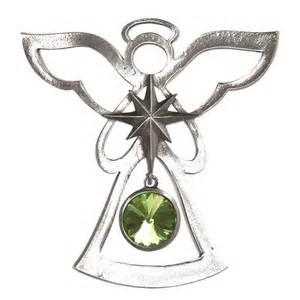 salisbury august birthstone angel ornament peridot