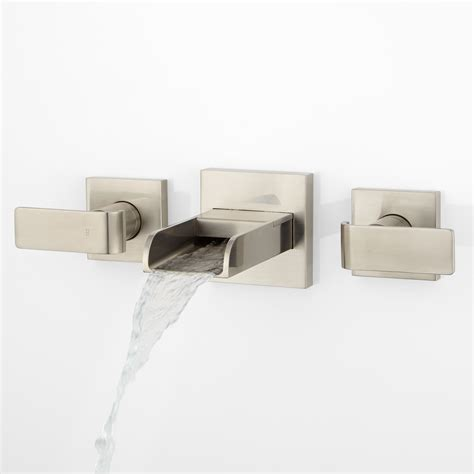 wall mount waterfall bathtub faucet lavelle wall mount waterfall tub faucet bathroom