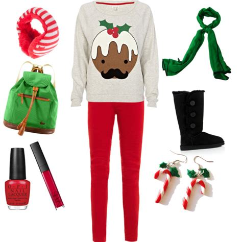 cute christmas outfits polyvore