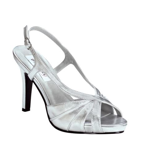 silver bridesmaid shoes aliyah by dyeables silver bridesmaid prom or evening shoes