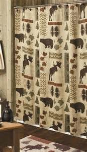 Big country moose and bear 5 piece bath set cabin decor shower