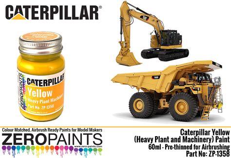 caterpillar yellow heavy plant  machinery paint ml