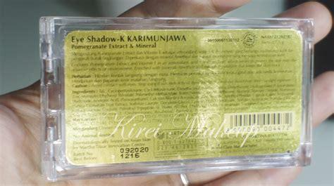 Eyeshadow Sariayu Karimunjawa product of the week sariayu k karimunjawa kirei makeup