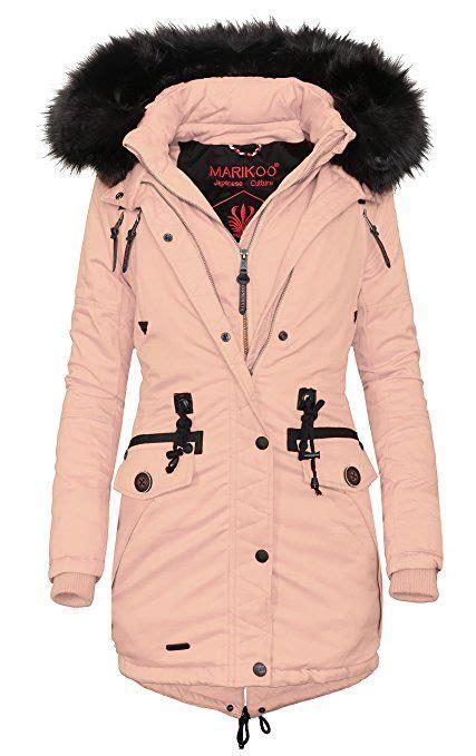 marikoo damen jacke winter mantel parka baumwoll mantel