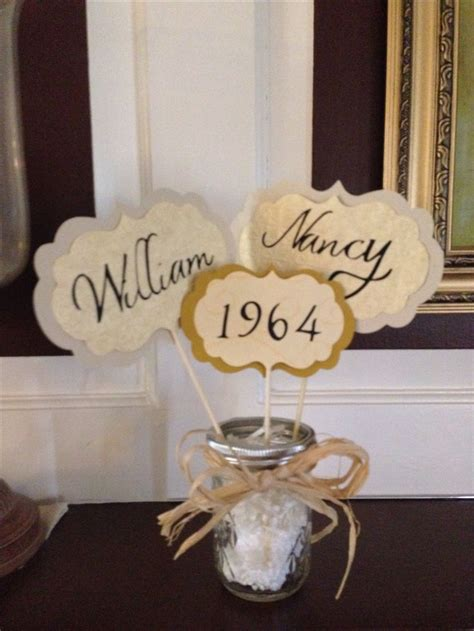 Wedding Anniversary Table Decorations by Best 25 50th Anniversary Decorations Ideas On