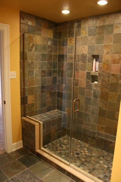 shower seat recessed areas banos enchapados banos  banos  piedra