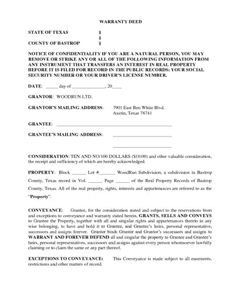 deed form fillable printable  forms handypdf