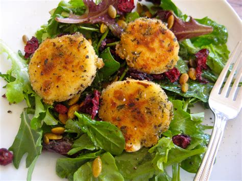 goat cheese salad baked goat cheese salad seasoned to taste