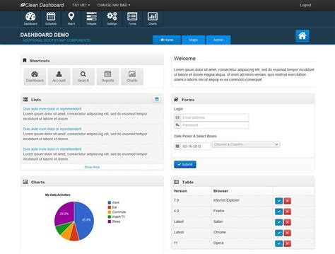 bootstrap templates for event management 20 free bootstrap admin dashboard themes