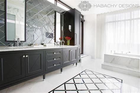 Paint Kitchen Backsplash by Diamond Pattern Mirrored Backsplash Contemporary Bathroom