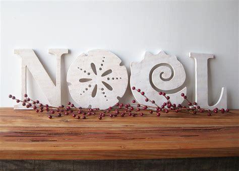 noel christmas decoration beach coastal word sign
