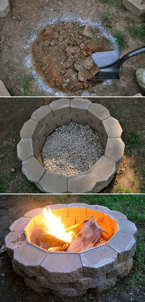 build backyard fire pit 50 backyard hacks home stories a to z
