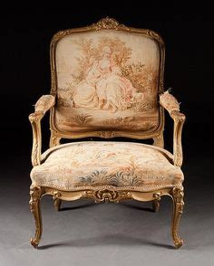louis xv stuhl factory tapestry woven at beauvais date half 18th