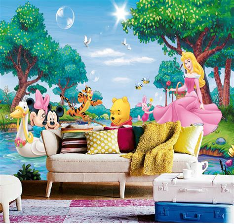 children room wallpaper with princess themes home design aliexpress com buy cartoon mickey mouse wallpaper 3d