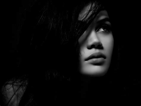 wallpaper black woman women black thinking monochrome faces black background