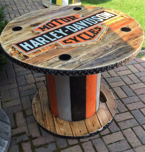 Harley Davidson Table by Wooden Spool Harley Davidson Table My Creations Cool