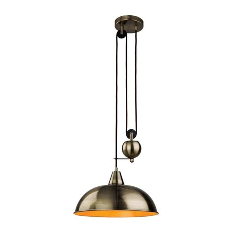 Modern Antique Brass Ceiling Lights Firstlight Century Modern Rise And Fall Ceiling Light In Antique Brass 2309ab Lighting From