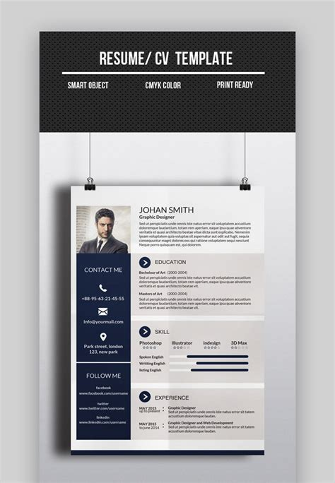 resume template 1 page resume template free career resume template