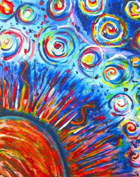 sun painting acrylic painting bright colors by lyssagal on deviantart