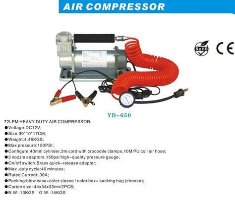 Heavy Duty Air Compressor Kompresor Mini Pompa Ban Mobil Tekanan dc12v 150psi 72lpm tugas berat listrik mini pompa kompresor udara portabel ban inflator dengan