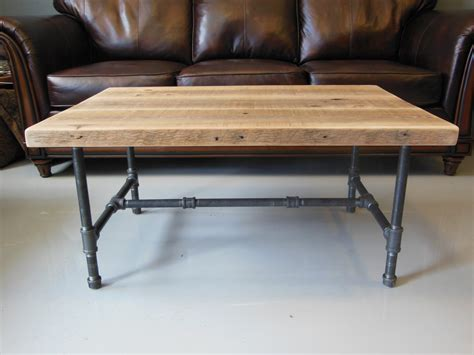 Wood Legs For Coffee Table Reclaimed Wood Coffee Table With Industrial Pipe Legs By Dendroco