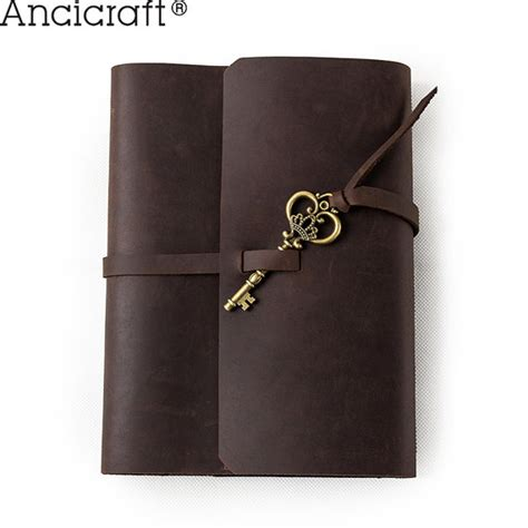 sketch book with leather cover refillable leather journal with key handmade sketchbook