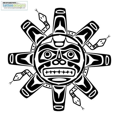 aztec sun and moon symbol