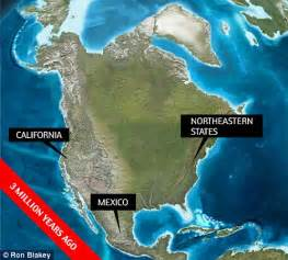 million years ago what north america looked like 550 million years ago