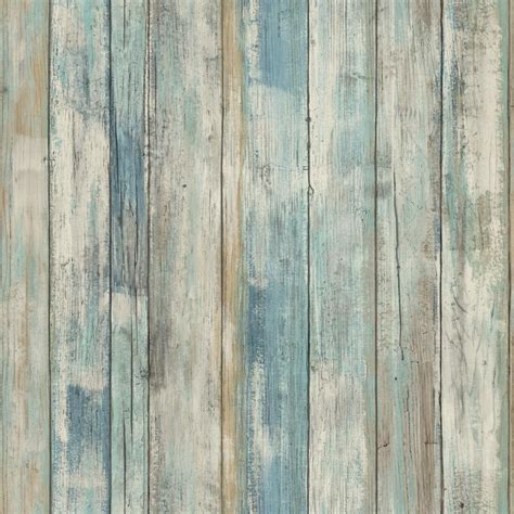 weathered wood rmk9052wp blue distressed wood peel and stick wallpaper ebay