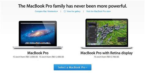 Macbook Di Malaysia Harga Macbook Pro Dengan Paparan Retina Bermula Rm6799 Di