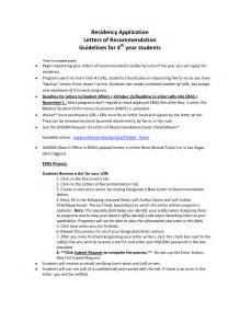 Cover Letter For Residency by Residency Cover Letters Template