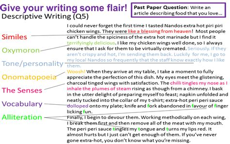writing miss s gcse media