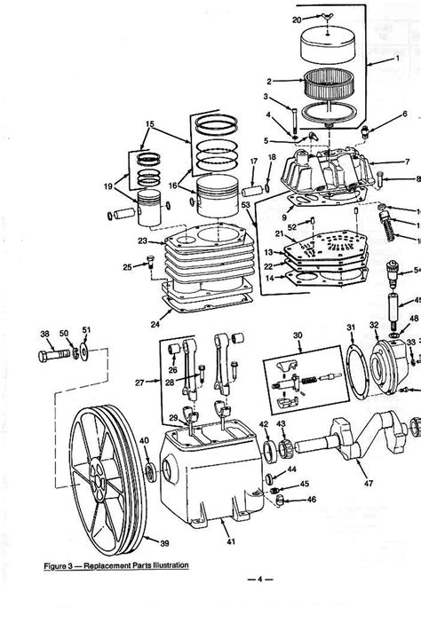speedaire za air compressor parts