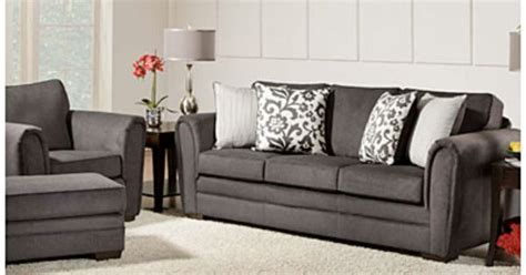 simmons flannel charcoal sofa simmons 174 flannel charcoal living room collection at big