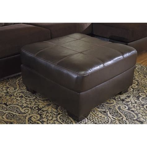 oversized leather ottoman ashley vanleer faux leather oversized ottoman in chocolate