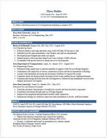 Exles Of A Resume by Exle Resumes Engineering Career Services Iowa State