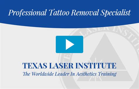 how to become tattoo removal specialist certified removal specialist
