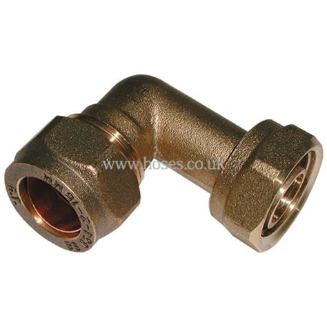 Faucet Compression Fitting by Bspp 90o Tap Connector Metric Brass Plumbing