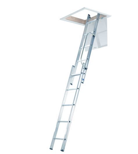 werner aluminium loft ladder 3 section aluminium loft ladders 2 section werner diy