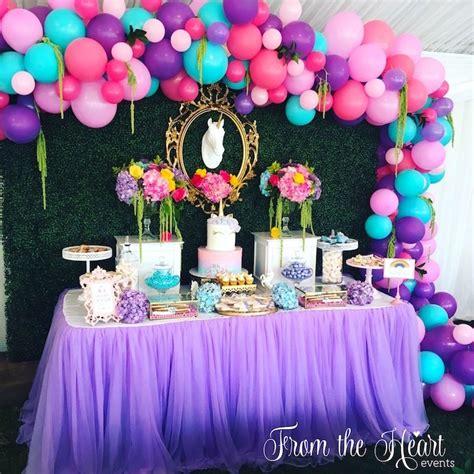 How To Do Draping Kara S Party Ideas Vibrant Unicorn Birthday Party Kara S