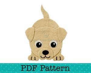 Puppy Template by Puppy Applique Template Diy Children Boy Pdf