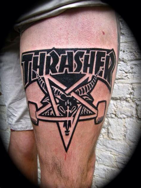 skater tattoos thrasher skate skate
