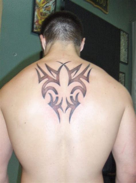 fleur de lis black ink tattooimages biz black ink tribal fleur de lis on back