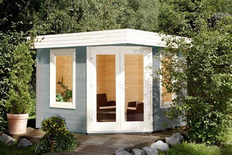 flachdach pavillon metall gartenhaus flachdach wolff 171 280x280cm 187 f 252 nf eck holz haus