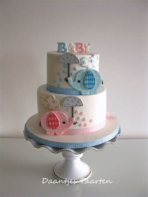 sweet elephant babyshower baby shower cakes