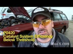 p0420 how to diagnose a bad catalytic converter