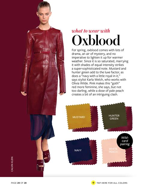 what color is oxblood what to wear with oxblood color combinations colour